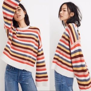 Madewell Cardiff Striped Crewneck Sweater Yarn M